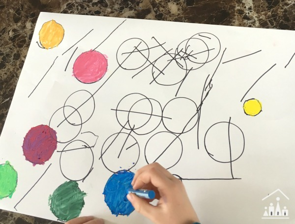 Exploring art with kids Kandinsky Lines and Circles