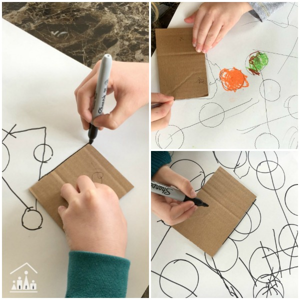 Exploring art with kids Kandinsky Lines and Circles Drawing
