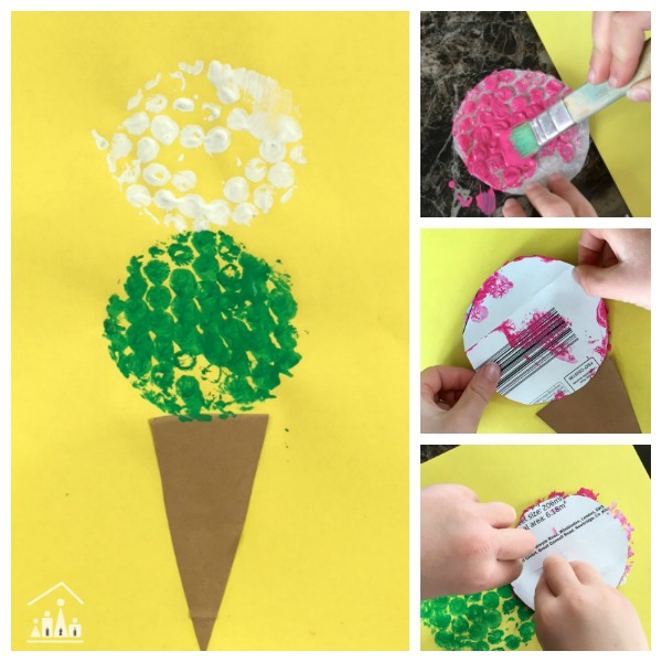 Bubble Wrap Ice Cream Craft Free Kids Activity Planner Arts Crafts