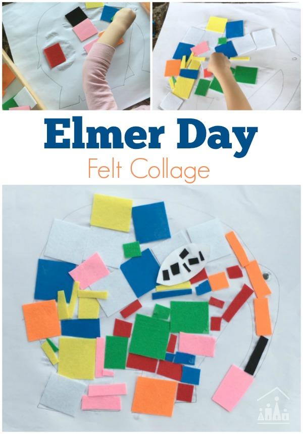 Elmer Day Craft Felt Collage