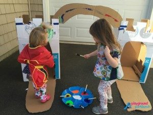 Outdoor Activities for Kids Paint a Cardboard Caslte