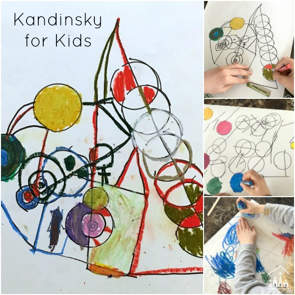 Creative Kandinsky For Kids Art Project Crafty Kids At Home