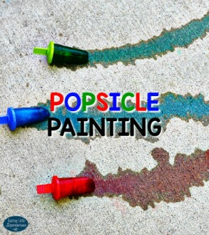 Outdoor Activities for Kids Popsicle Painting