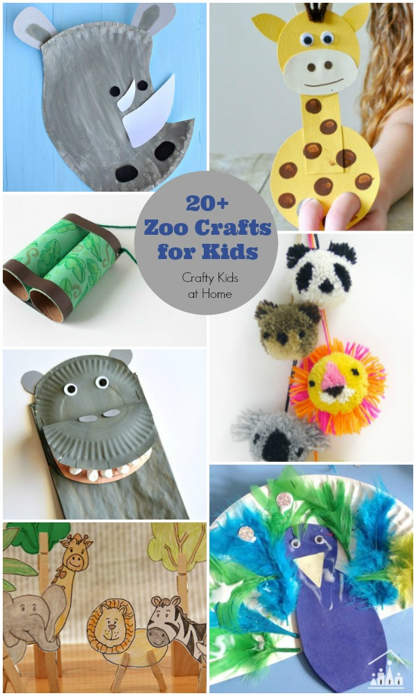 20 + Zoo Crafts for Kids 600