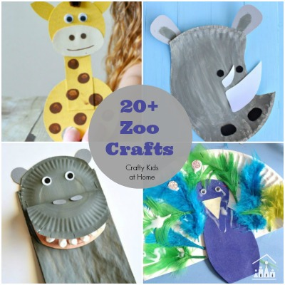 20 + Zoo Crafts for Kids