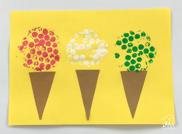 Bubble Wrap Ice Cream Craft