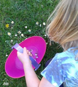 Making Daisy Soup out in the garden
