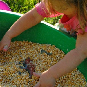 Outdoor Activities for Kids Sensory Dinosaur Dig