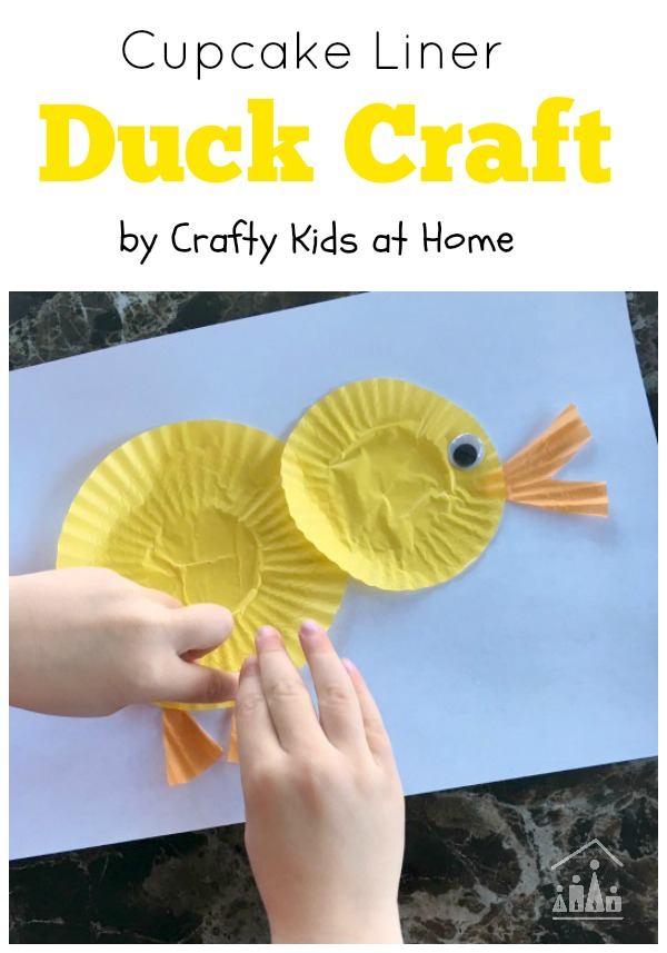 Cute Cupcake Liner Duck Craft Crafty Kids At Home