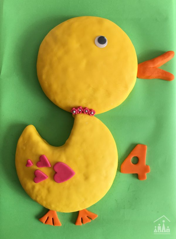 Duck Birthday Day Cake