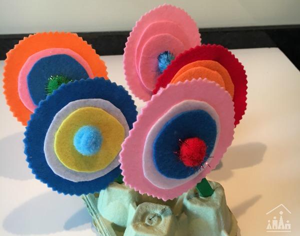 Felt Flower Craft Done