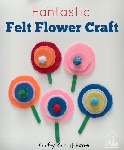 Felt flower craft for Kids