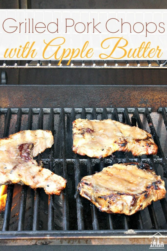 Grilled Pork Chops with Apple Butter