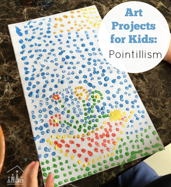 Fun Painting Ideas: Pointillism for Kids