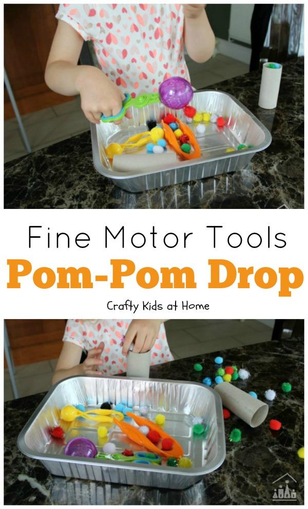 Fine Motor Skills Pom Pom Drop