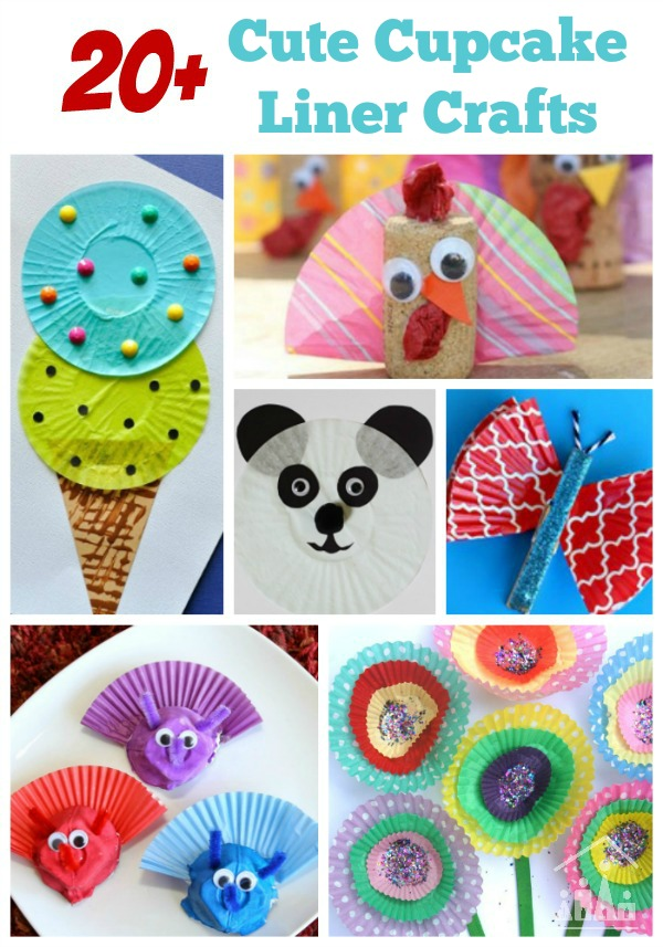 Cutest Cupcake Liner Crafts Crafty Kids At Home