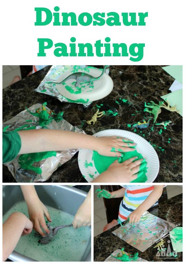 Dinosaur Painting on Foil