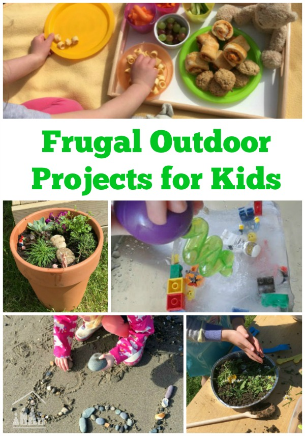 Frugal Outdoor Projects For Kids Crafty Kids At Home