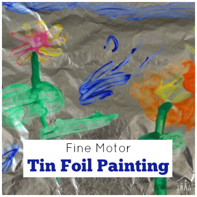 Tin Foil Painting Process Art Activity