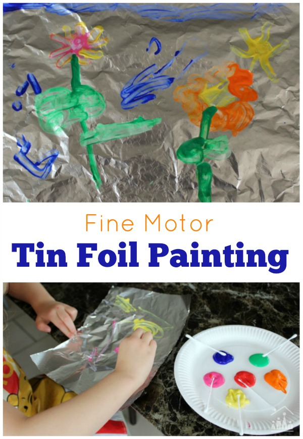Tin Foil Painting for kids
