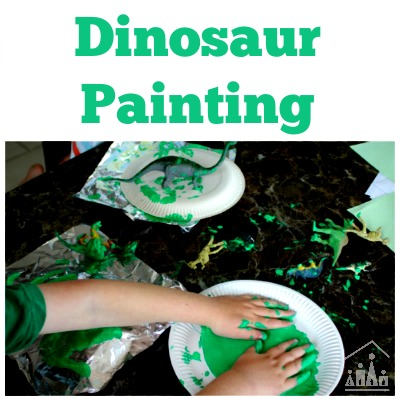 Dinosaur Painting on Foil