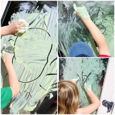 Awesome Outdoor Finger Painting Recipe