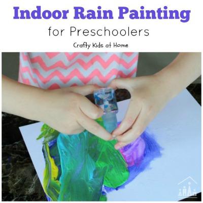 Indoor Rain Painting for Preschoolers