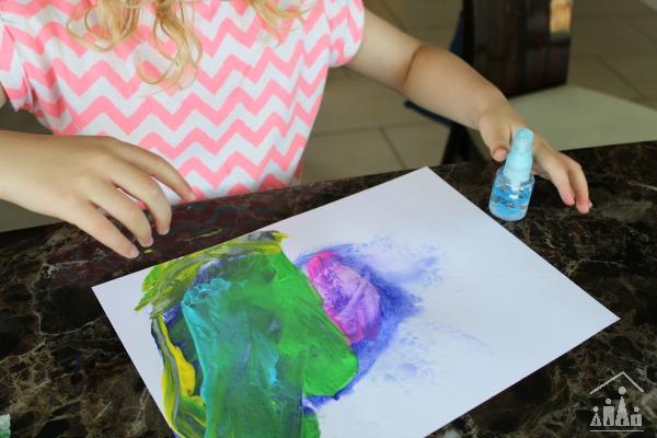 Rain Painting for Preschoolers