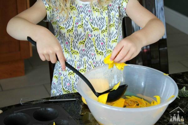 Making sunflower soup