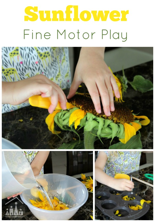 Sunflower fine motor play