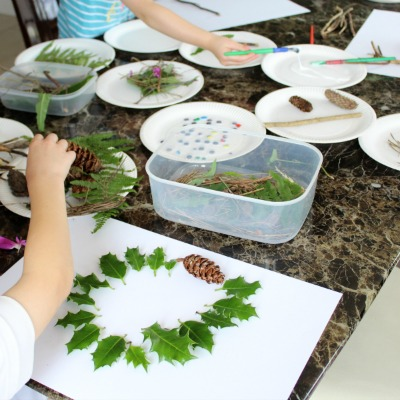 Creative Nature Collages for Kids