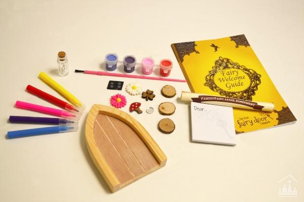 Paint Your Own Fairy Door set contents