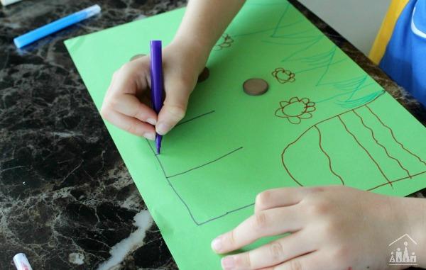 drawing a fairy garden