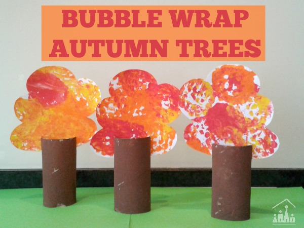 Bubble Wrap Autumn Trees For Pretend Play Crafty Kids At