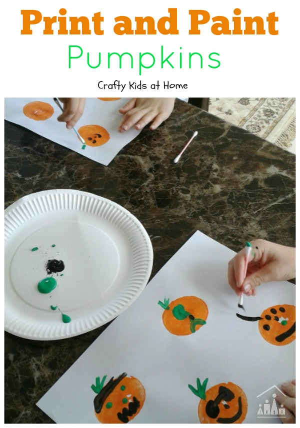 Print and Paint Pumpkins Art Project