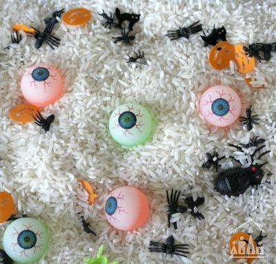 Spooky Sensory bin for Halloween