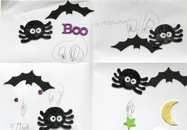 Finished spooky sticker story