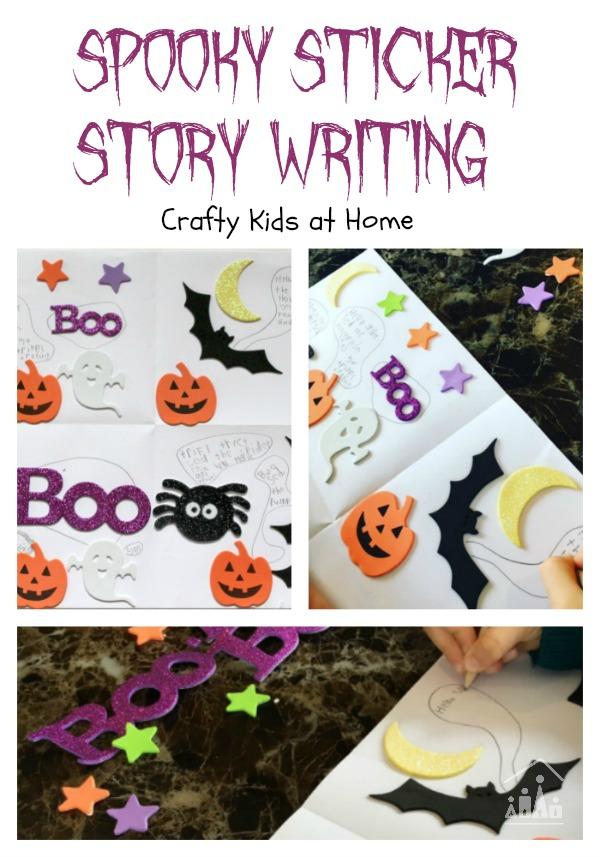 Spooky Sticker Story Writing Spooky Sticker Story Writing