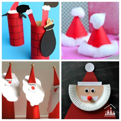 11 Santa Crafts for Kids to make in the Holidays