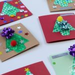 Bubble Wrap Christmas Tree Cards