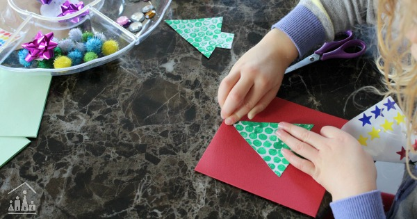 Making Bubble wrap Christmas cards