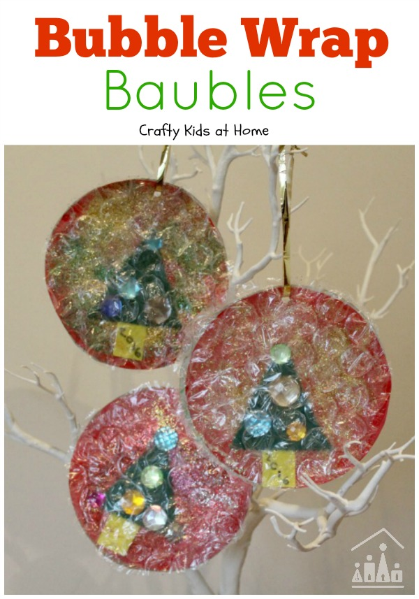 Christmas tree bubble wrap baubles