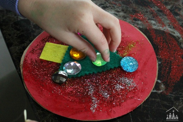 Adding some sparkle to a DIY christmas tree bauble