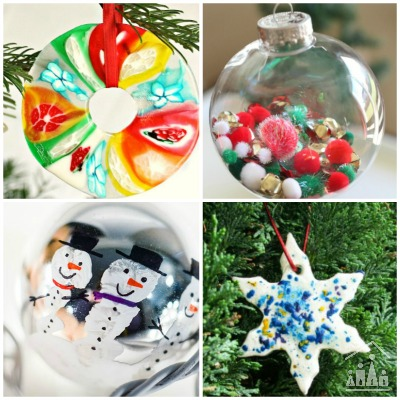 18 Creative Christmas Ornaments for Kids to Make - Crafty ...