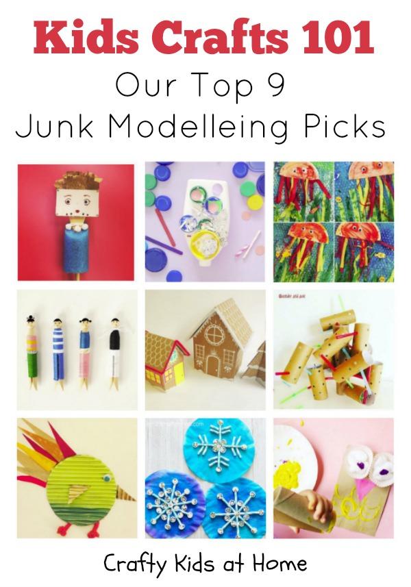Kids Crafts 101 Junk Modelling