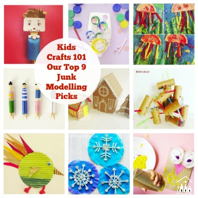 Kids Crafts 101 Inspirational Junk Modelling Projects