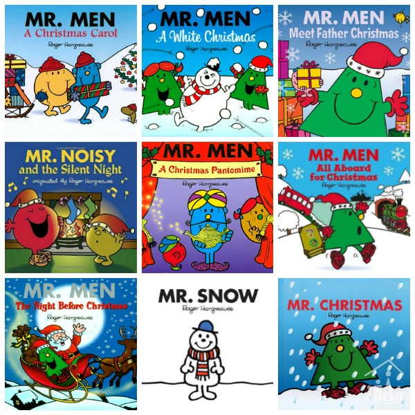 Mr Men Christmas Books Collage