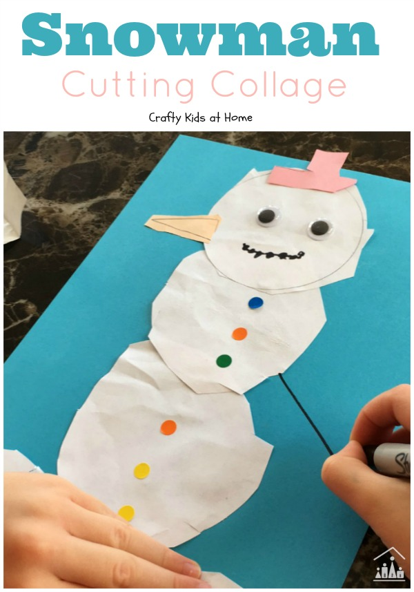 Snowman Cutting Exercise to make a Collage