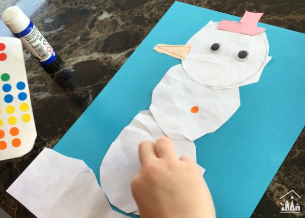Decorating a Snowman collage