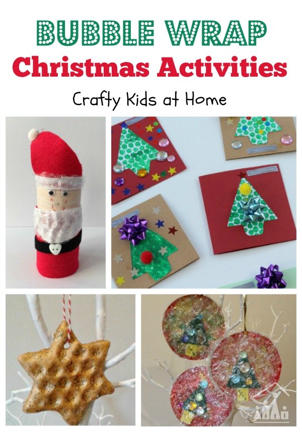 Bubble Wrap Christmas Activities for Kids